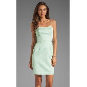 NWOT SHOSHANNA Strapless Textured Mint Dress 4
